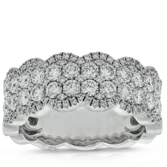 Scalloped Edge Diamond Band 14K, 1.50 ctw.