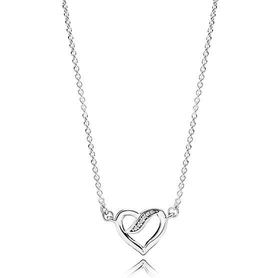 Pandora Dreams of Love CZ Necklace