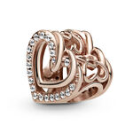 Pandora Rose™ Sparkling Entwined Hearts Charm