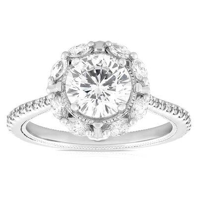 Signature Forevermark Diamond Engagement Ring 18K, 1.51 ct. Center