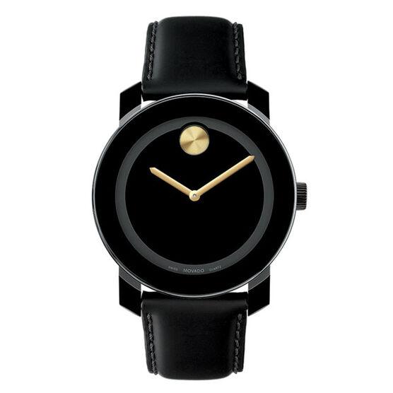 Movado Bold Gold Hands Composite Quartz Watch