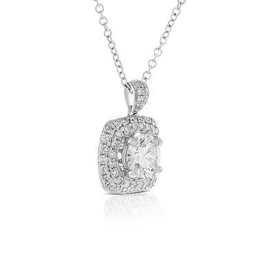 Signature Forevermark Diamond Cluster Pendant 18K