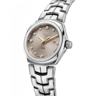 TAG Heuer Link Taupe Diamond Dial Quartz Watch, 32mm