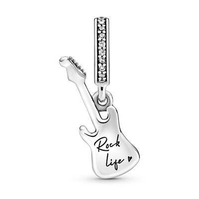 Pandora Passions Electric Guitar Dangle CZ Charm