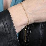 Tri-Tone Beaded Bolo Bracelet 14K