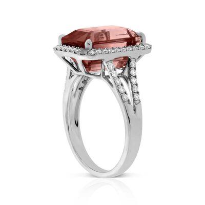 Bicolor Tourmaline & Diamond Ring 14K
