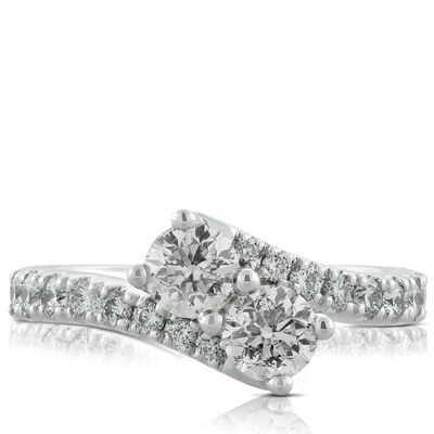 Perfectly Paired 2-Stone Diamond Ring 14K, 1.45 ctw.