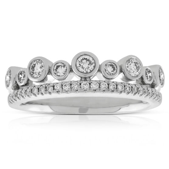 Two Row Diamond Band 14K