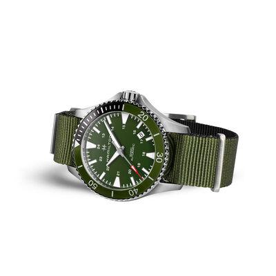 Hamilton Khaki Navy Scuba Green NATO Automatic Watch, 40mm