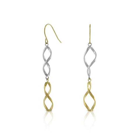Twisted Dangle Earrings 14K