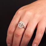 Double Halo Diamond Ring 14K