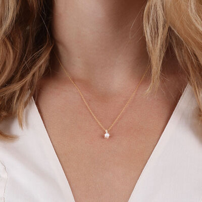 Cultured Freshwater Pearl Pendant 14K