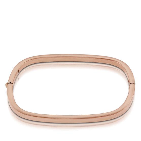 Rose Gold Roberto Coin Designer Gold Rectangular Bangle Bracelet 18K