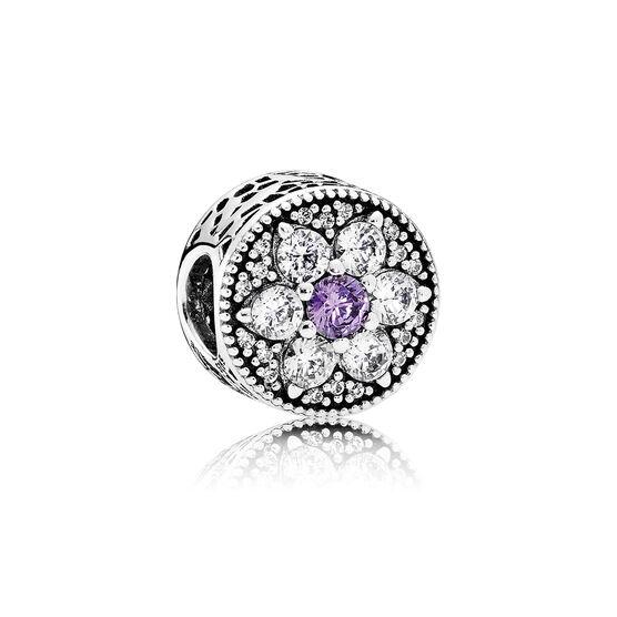 PANDORA Purple Forget Me Not Charm