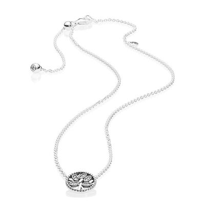 PANDORA Tree of Life  CZ Collier Necklace