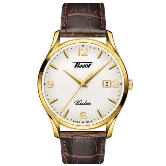 Tissot Heritage Visodate Gold PVD Silver Opalin Dial Watch, 40mm