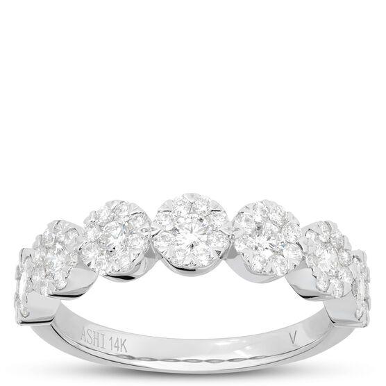 Circle Diamond Cluster Ring 14K