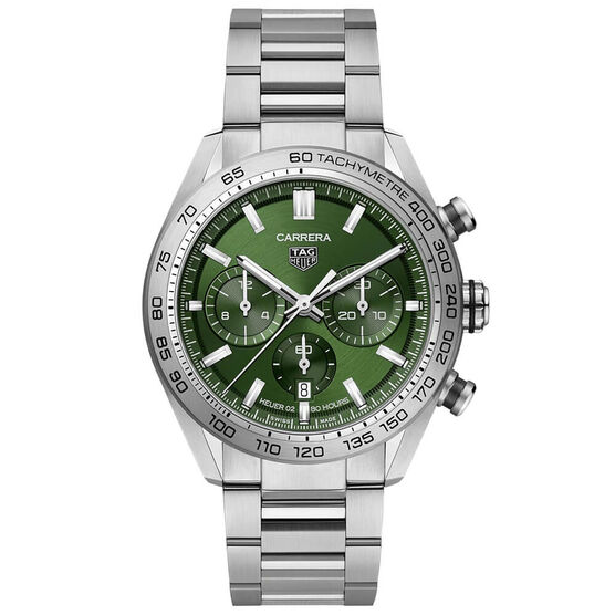 TAG Heuer Carrera Heuer 02 Automatic Mens Green Steel Watch