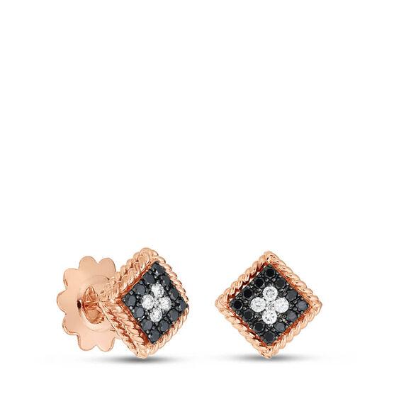 Rose Gold Roberto Coin Palazzo Ducale Diamond Stud Earrings 18K