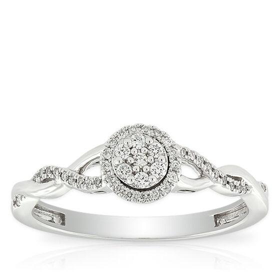 Pavé Diamond Halo Ring 14K