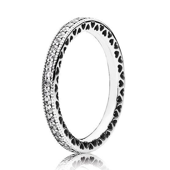 Pandora Sparkle & Hearts CZ Ring