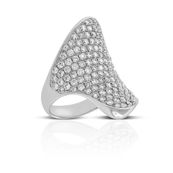 Diamond Pavé Freeform Ring 14K