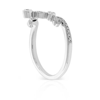 Milgrain Diamond Contour Band 14K