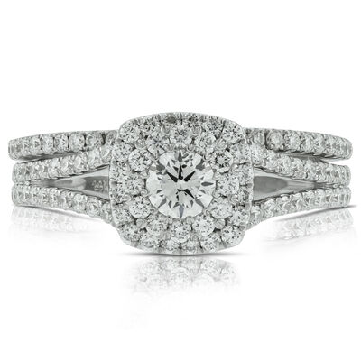 Halo Diamond Bridal Set 14K