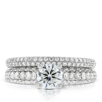 Signature Forevermark Diamond Pavé Bridal Set 18K