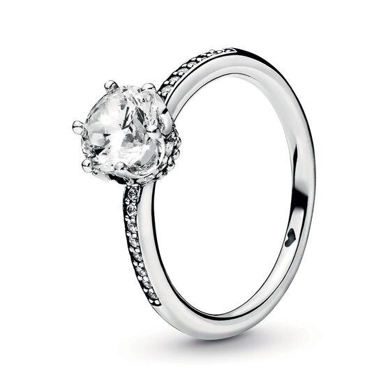 Pandora Wonderland Clear Sparkling Crown CZ Ring