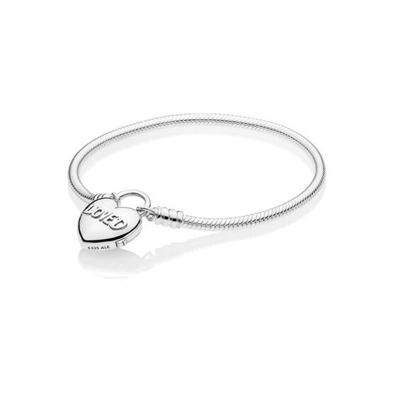 PANDORA You Are Loved Heart Padlock Bracelet