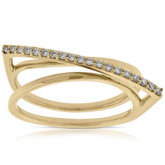 Diamond Overpass Ring 14K