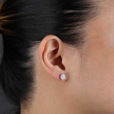 Cluster Diamond Earrings 14K, 1/2 ctw.