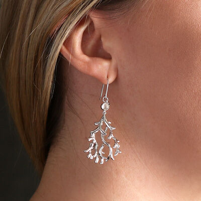 Lisa Bridge Moonstone 'Coral' Earrings