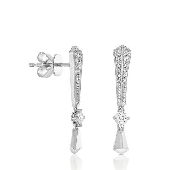 Jade Trau for Signature Forevermark Diamond Earrings in Platinum