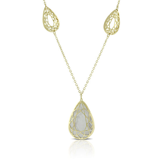 Toscano Mother of Pearl Necklace 14K