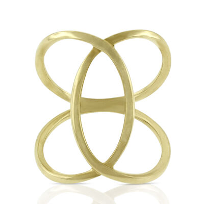 Interlocking Loop Ring 14K, Size 7