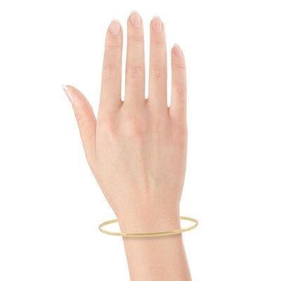 Gold Bangle Bracelet 14K, 2mm