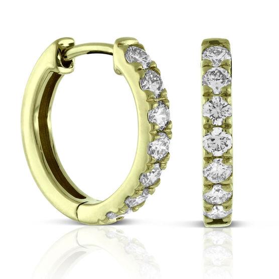 Ikuma Canadian Diamond Huggie Hoop Earrings 14K