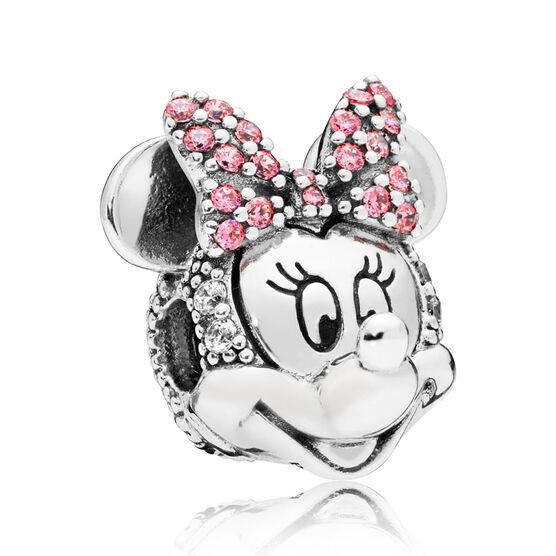PANDORA Disney, Shimmering Minnie Portrait CZ Clip