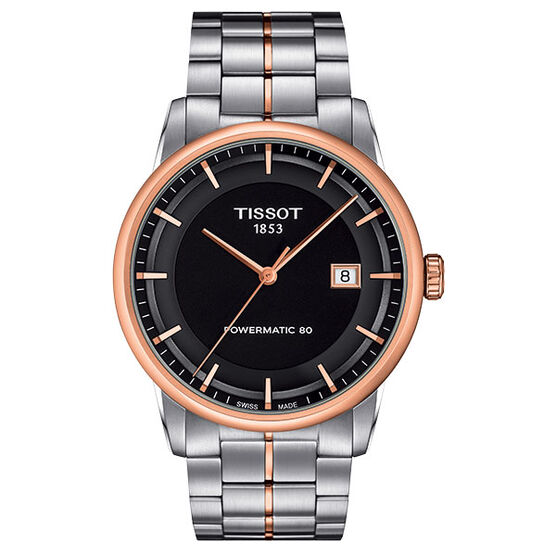Tissot Luxury Powermatic 80 T-Classic Rose Gold PVD Auto Watch, 41mm
