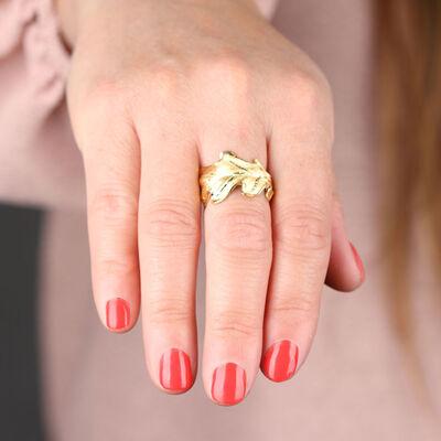 Toscano Leaf Ring 14K