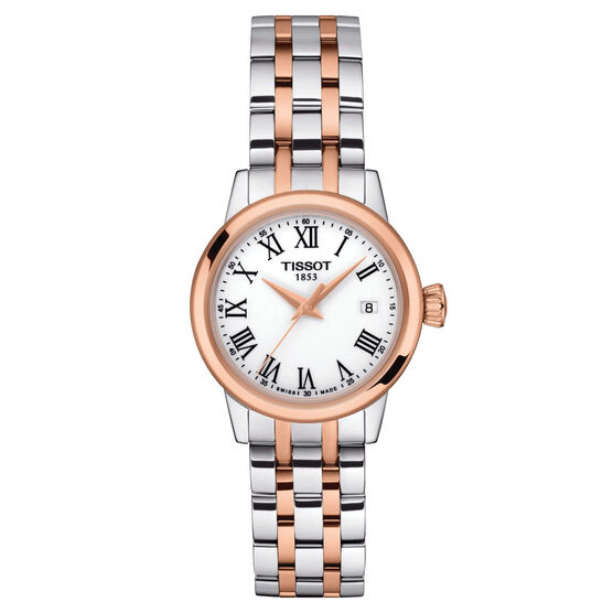 Tissot Classic Dream Lady Rose PVD White Dial Quartz Watch, 28mm
