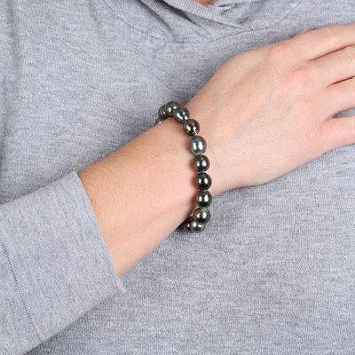 Cultured South Sea Tahitian Pearl Stretchy Bracelet