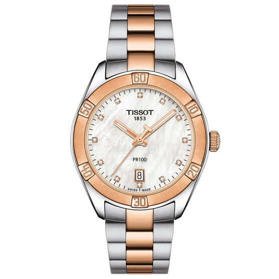 Tissot PR 100 T-Classic Sport Chic Diamond Watch, 36mm