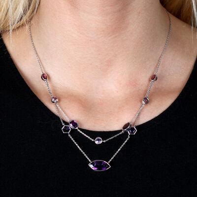 Lisa Bridge Multi-Shape Amethyst Necklace
