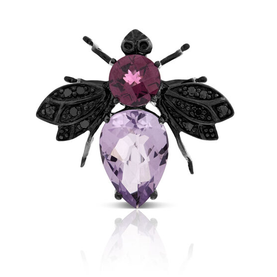 Bee Gemstone Pin 14K