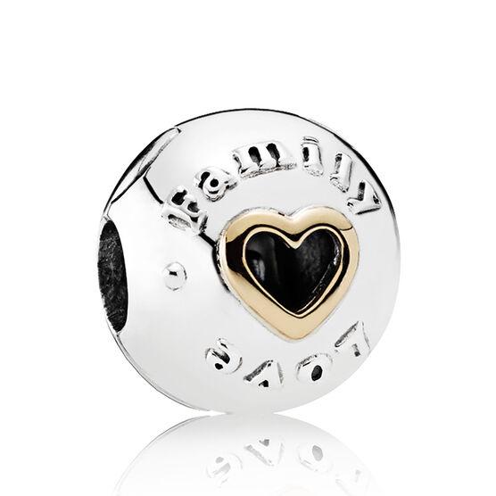 Pandora Family & Love Clip, Silver & 14K