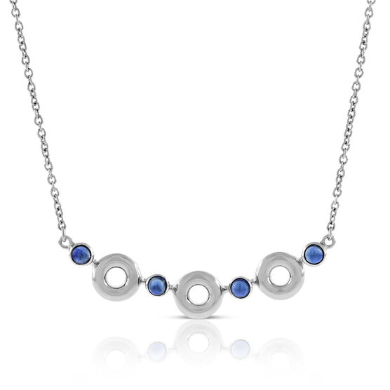 Lisa Bridge Sapphire Bubble Necklace