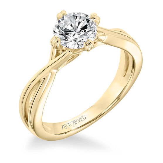 ArtCarved Split Semi-Mount Engagement Ring 14K